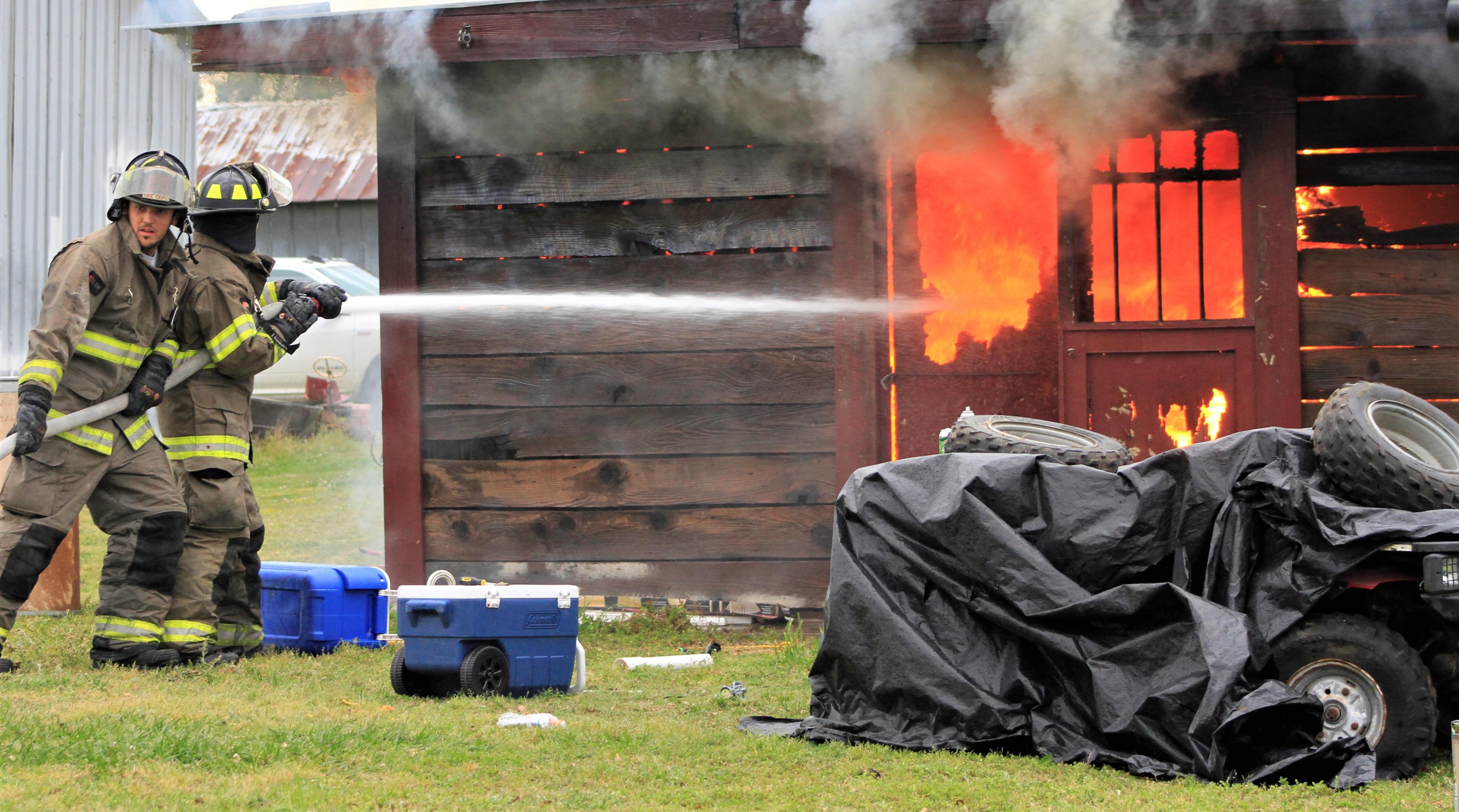 Blaze Destroys Barn On Shady Grove Road (PHOTO GALLERY)