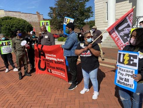 Protest Backs Improving Conditions For City Workers