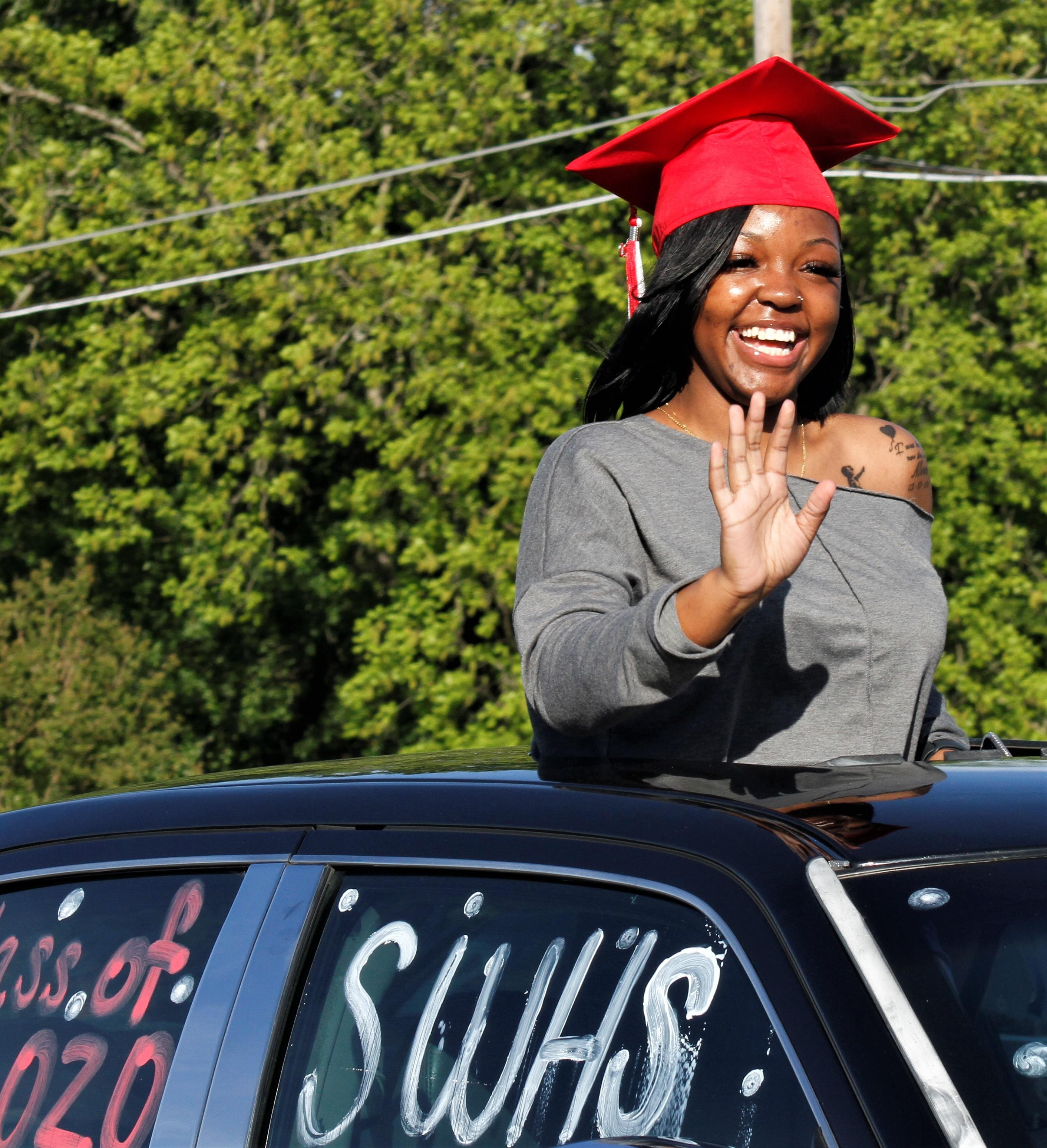 Mt. Olive Holds Second Senior Parade On Tuesday