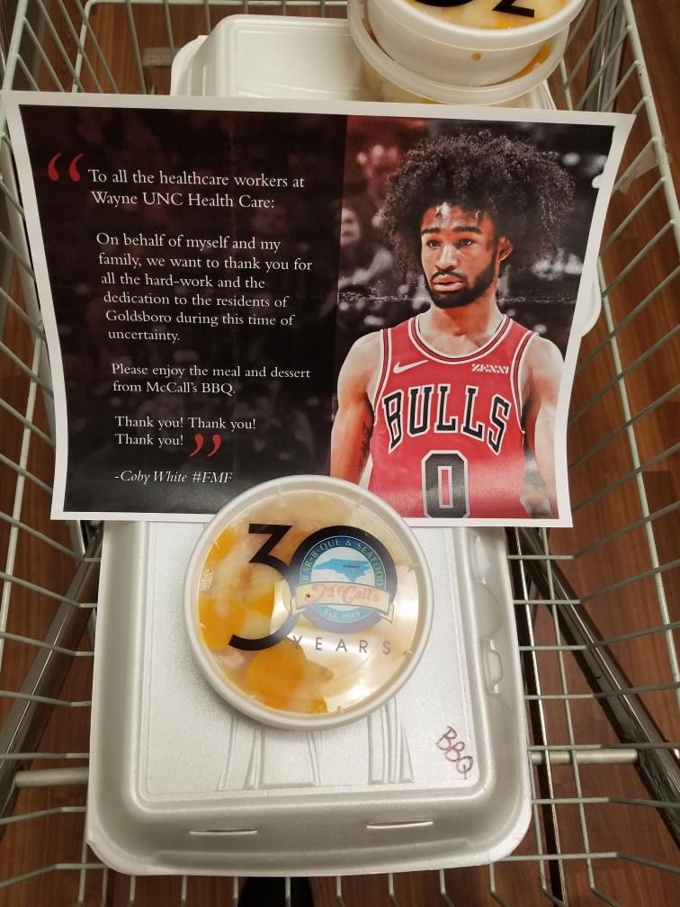 NBA Player Donates Meals To Local Frontline Healthcare Workers