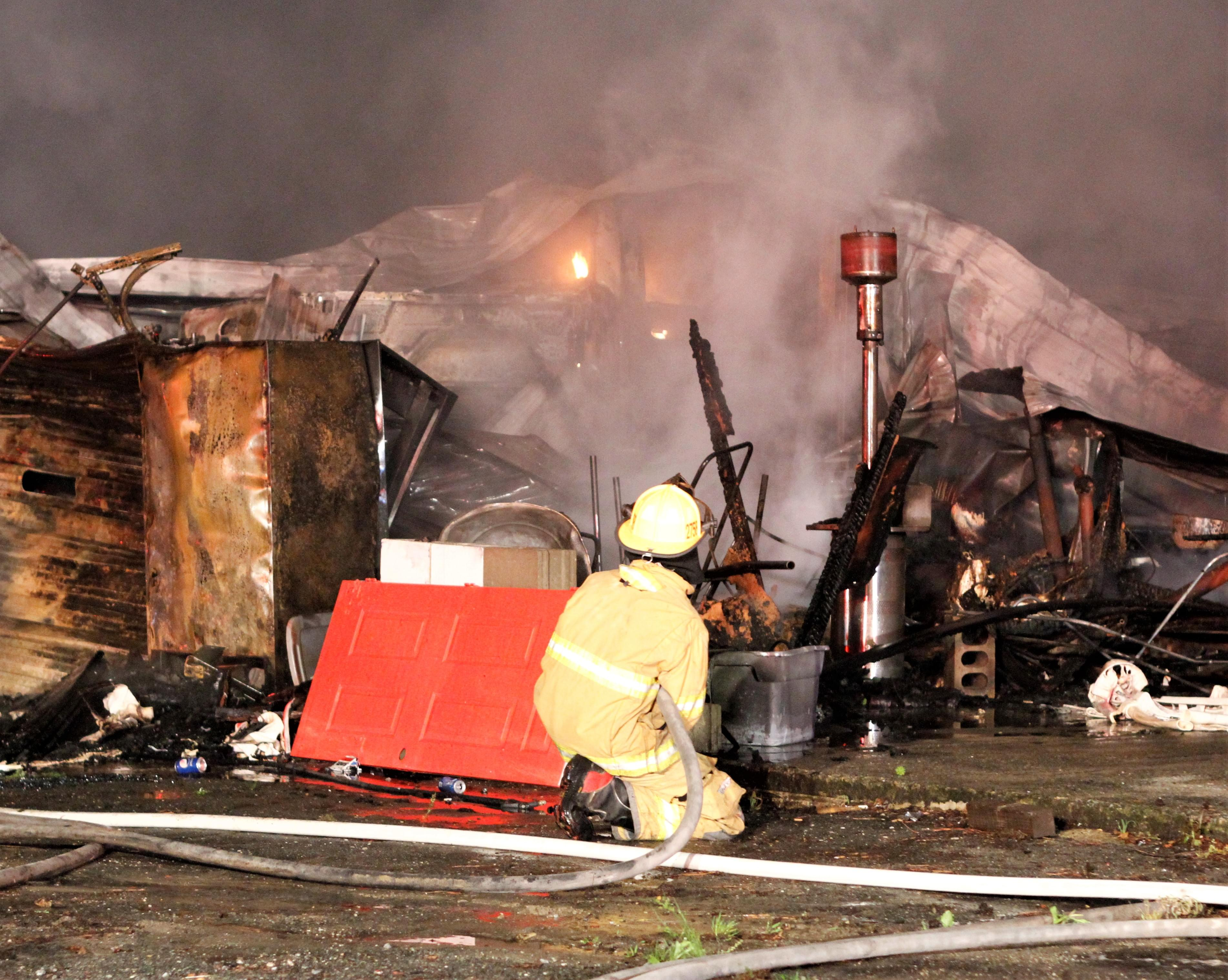 Early Morning Garage Fire In Seven Springs (PHOTO GALLERY)