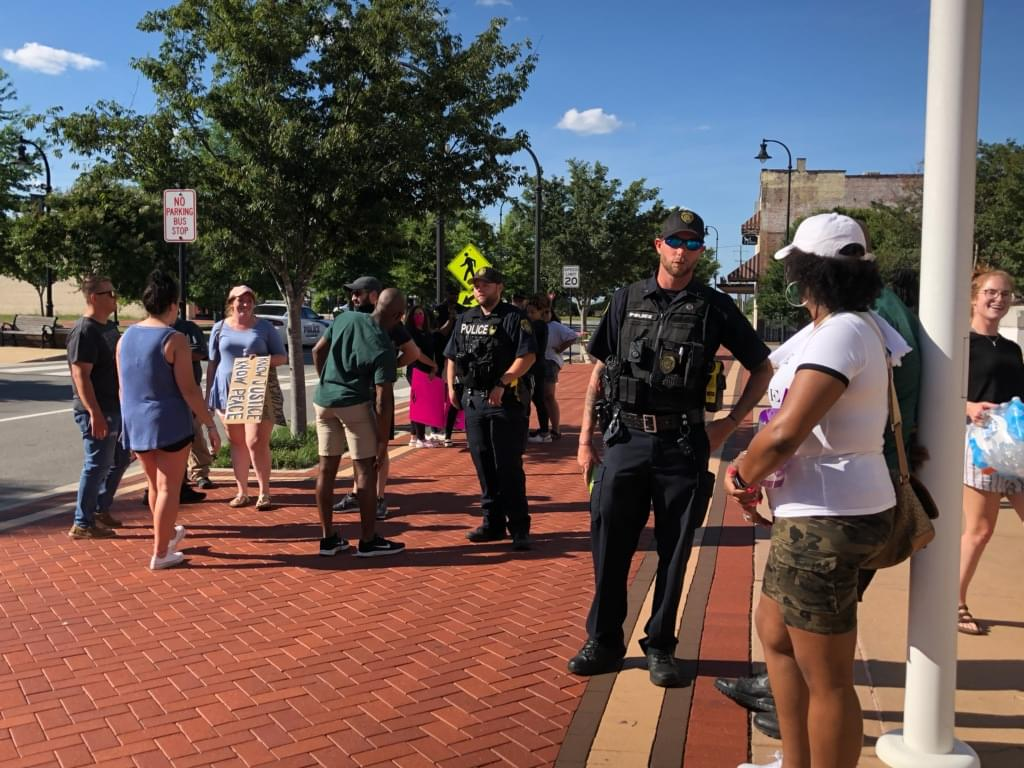 Protesters Fill Downtown Goldsboro For Second Night