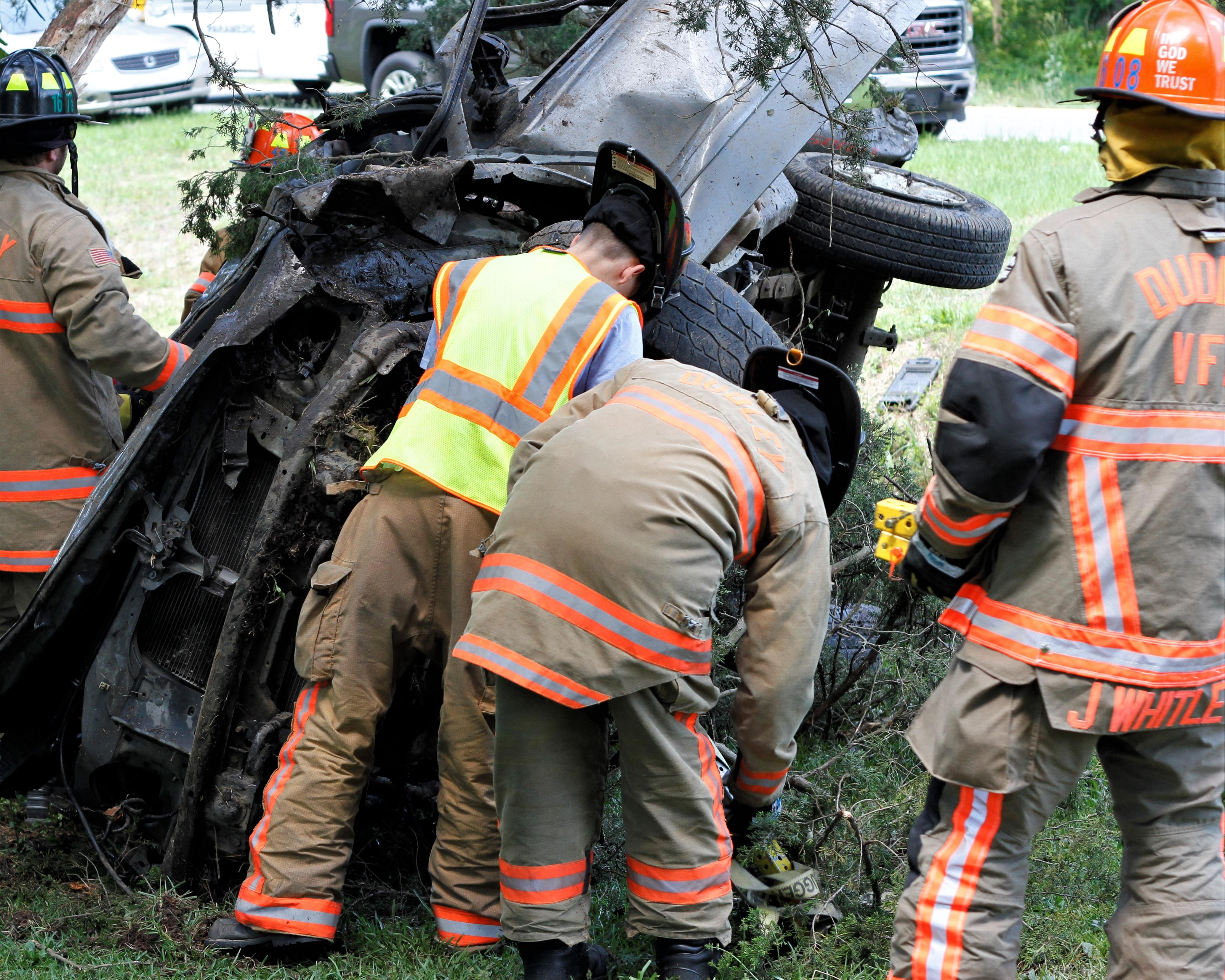 Driver Airlifted To Hospital Following Crash Near Brogden (PHOTOS)