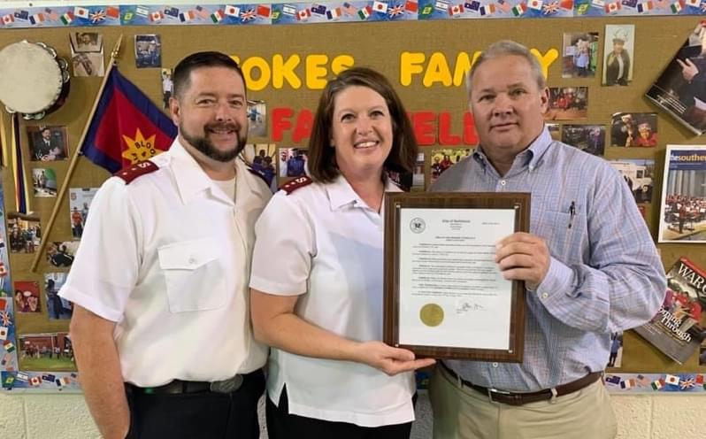 Proclamation Honors Goldsboro Salvation Army Leaders
