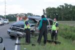 SUV Runs Off Garner Chapel Road (PHOTOS)