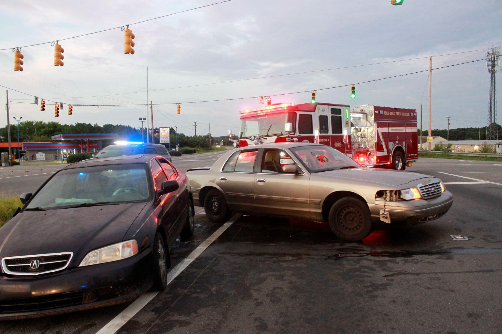 Two Vehicle Accident Call For Assist From Sheriff Deputies
