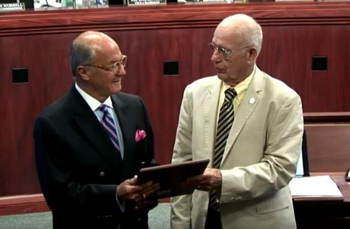 Board Honors Transportation Work Of Gus Tulloss