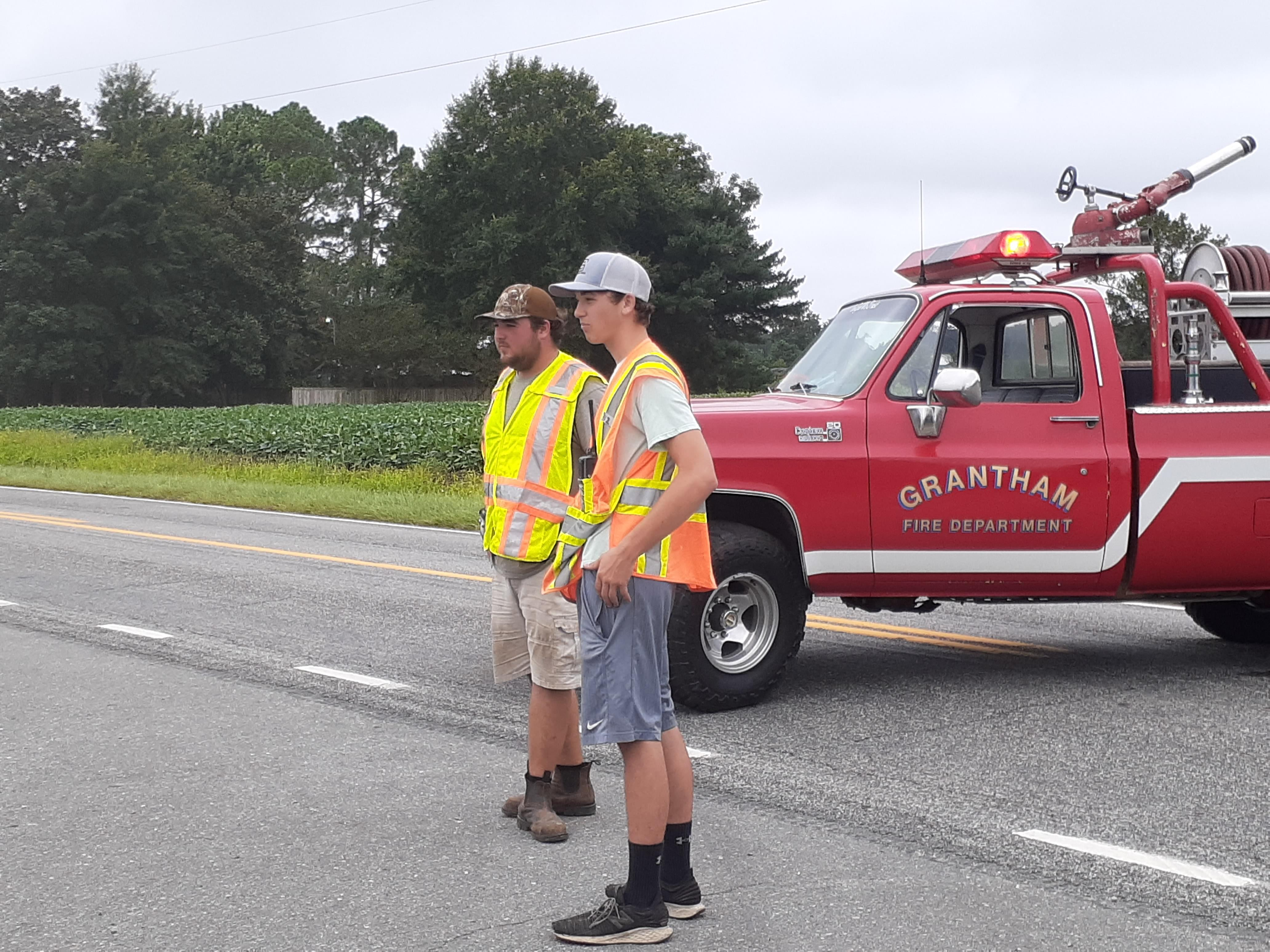 Downed Power Line Closes Grantham School Road