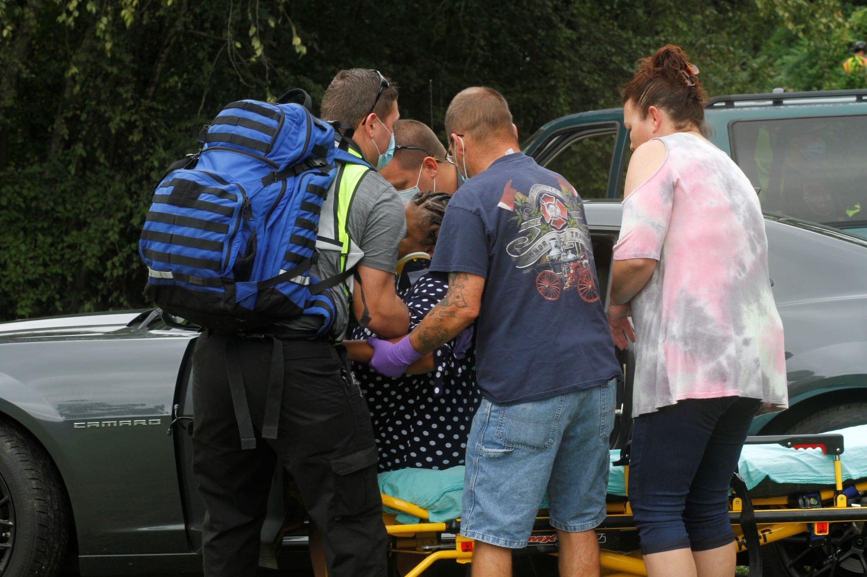 Driver Taken To Hospital Following Crash