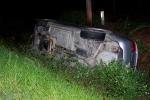 Vehicle Runs Off Genoa Road, Overturns