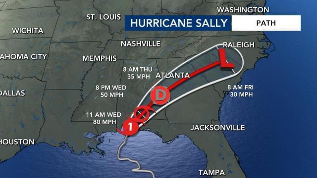 Flash Flood Watch In Effect As Sally Treks Toward N.C.