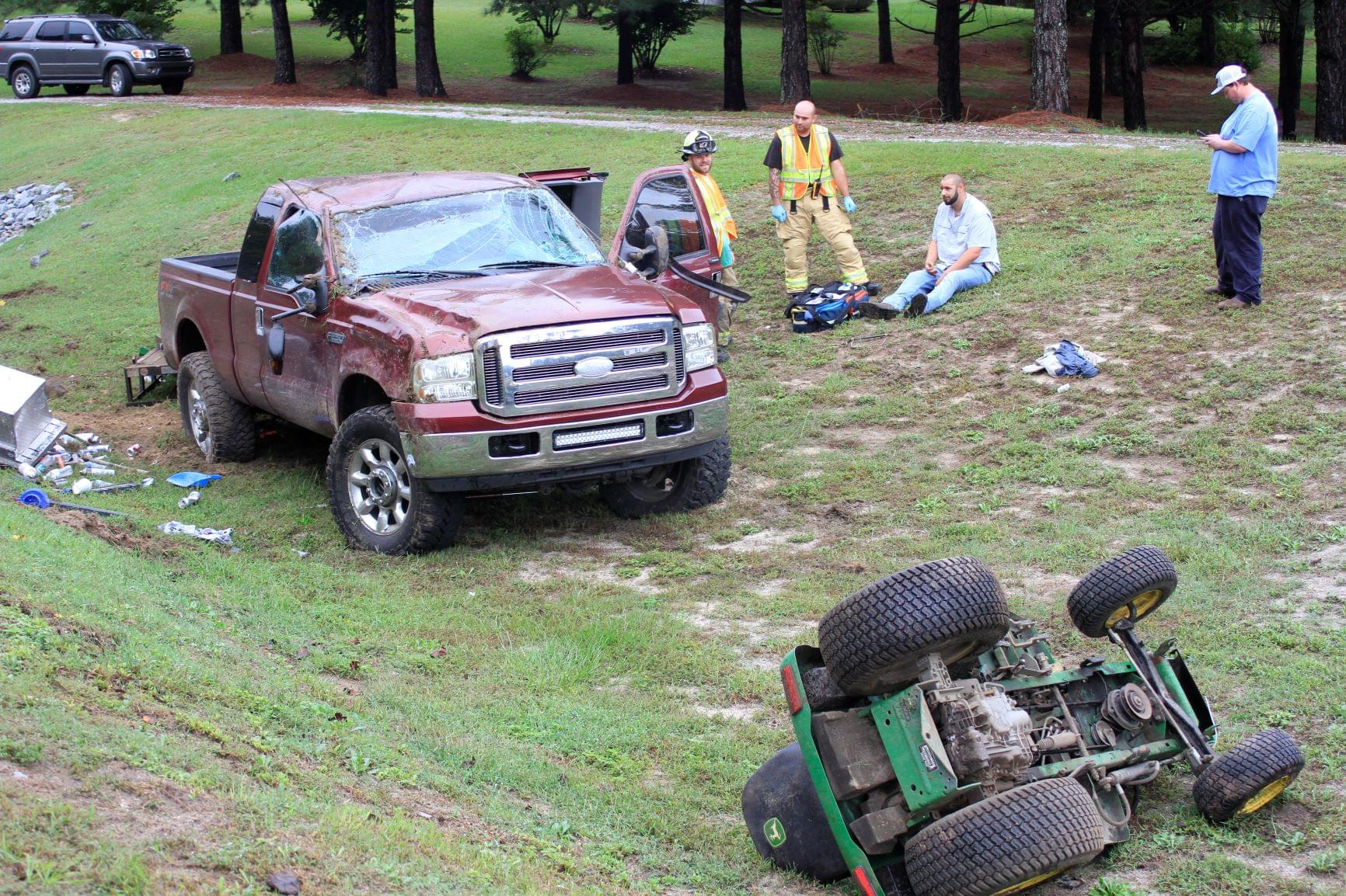 Trailer Detaches From Truck During Accident (PHOTOS)