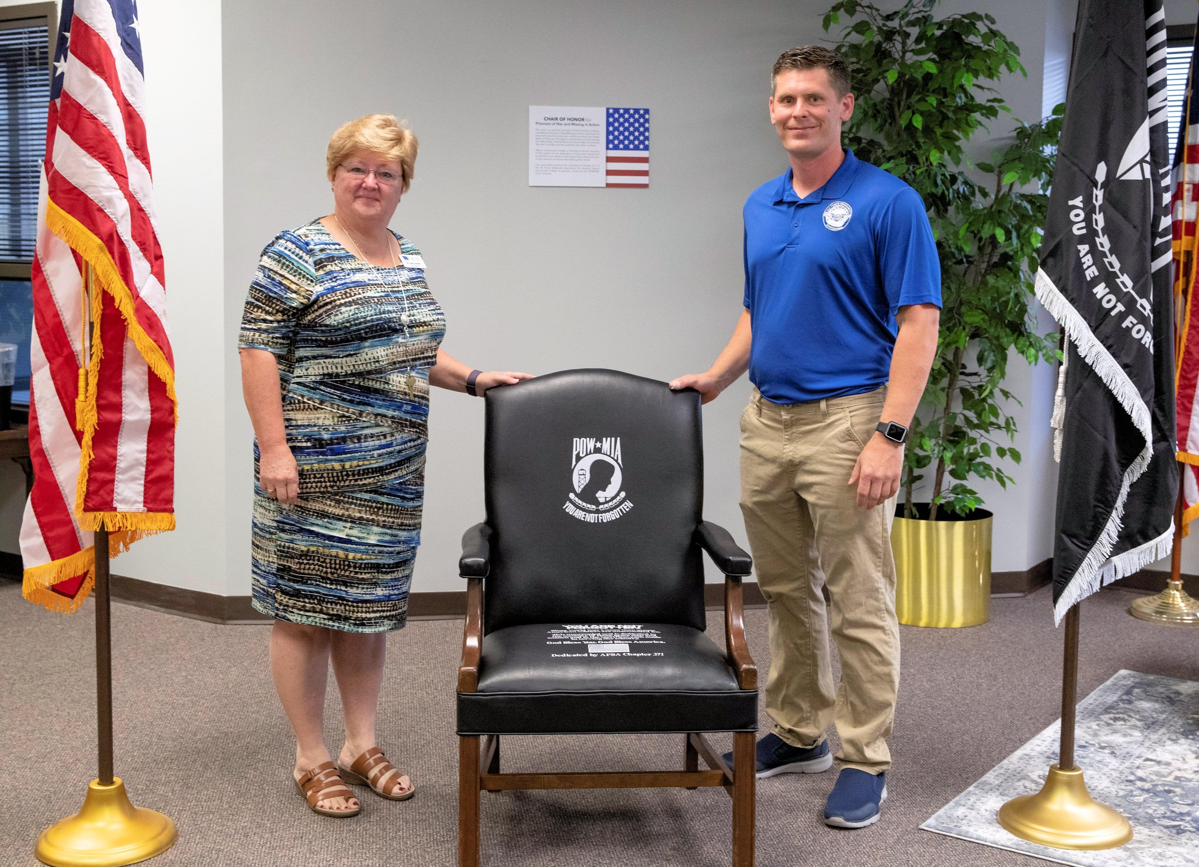 Sergeants Association Presents POW/MIA Chair To WCC