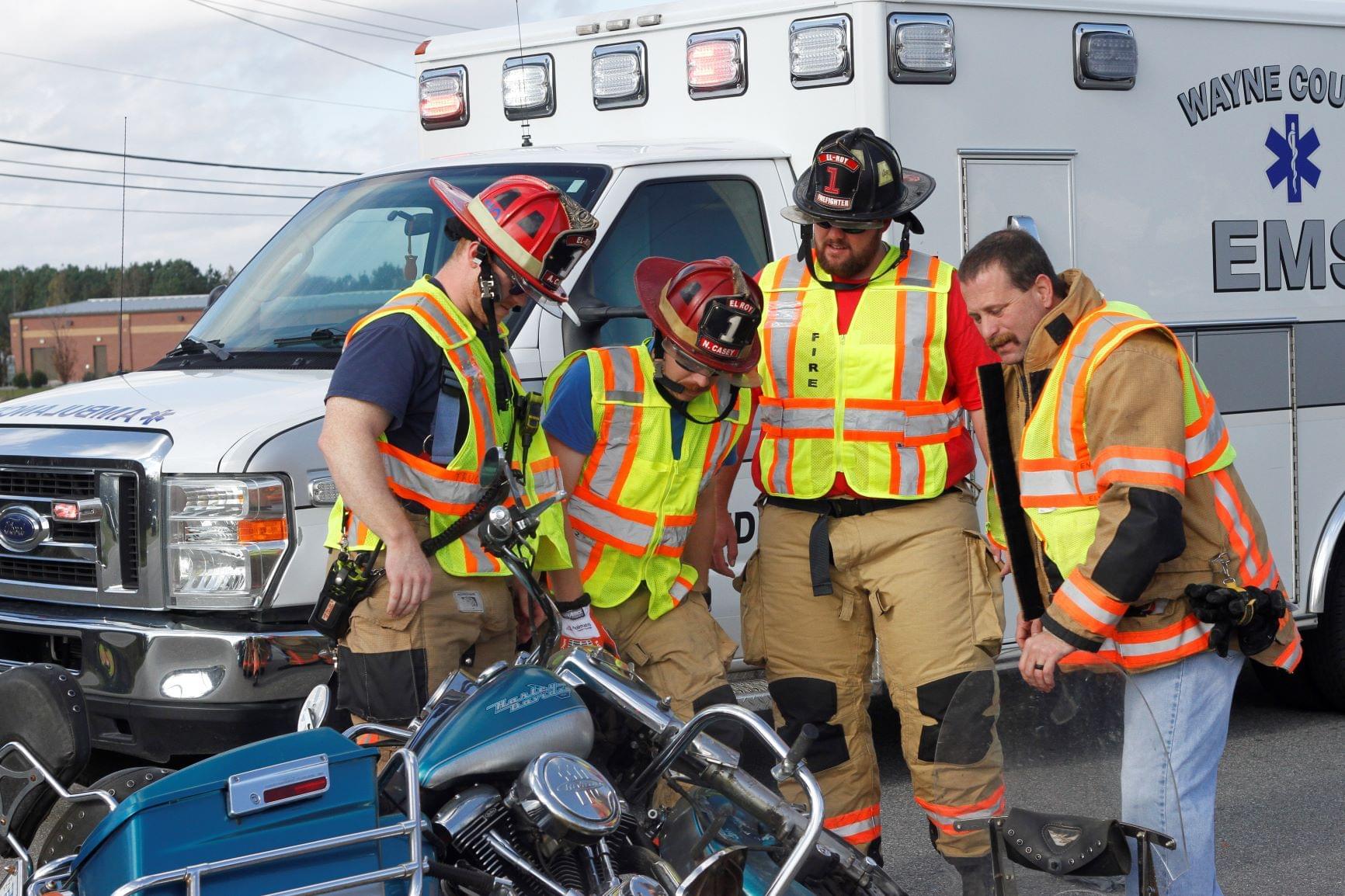 Motorcyclist Hospitalized Following Crash (PHOTOS)