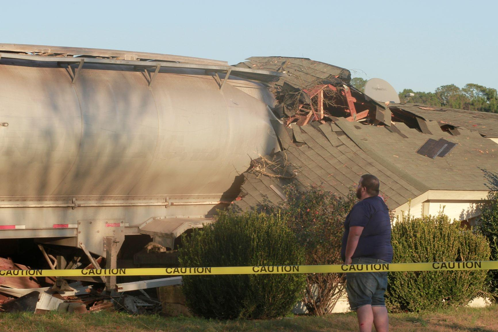 Tractor-Trailer Crashes Into Residence (PHOTO GALLERY)