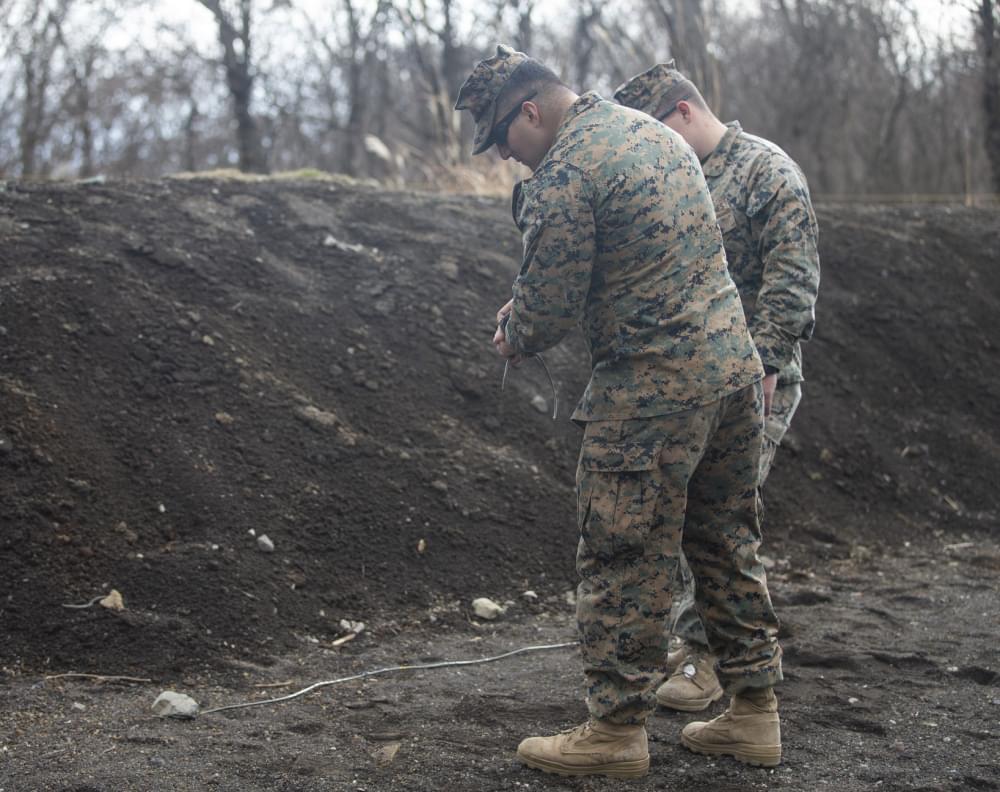 Goldsboro Marine Conducts Explosive Ordnance Disposal In Japan