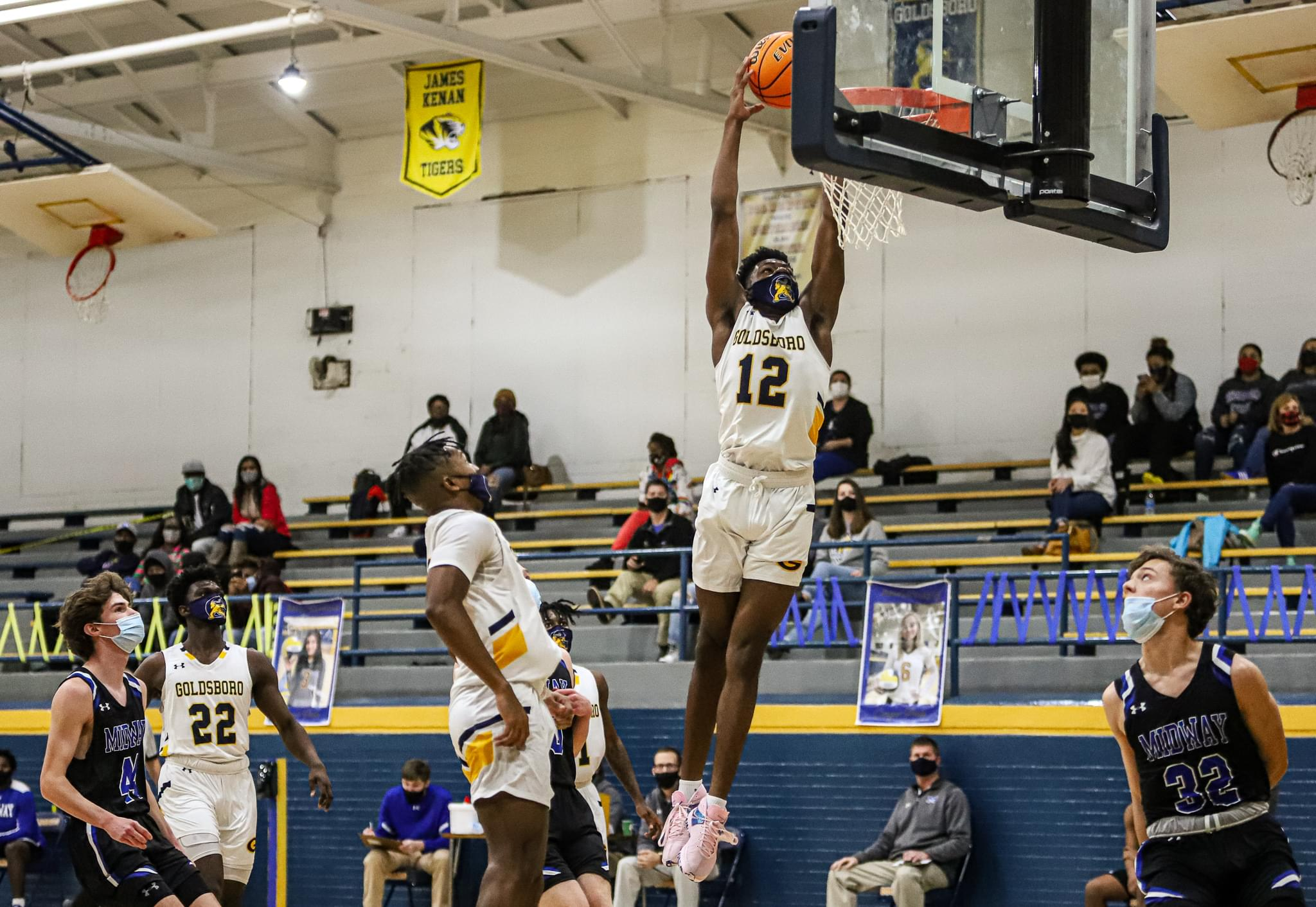 Boys Basketball: Goldsboro Rolls Past Midway (PHOTO GALLERY)