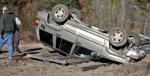 Vehicle Rolls In Crash Near Dudley