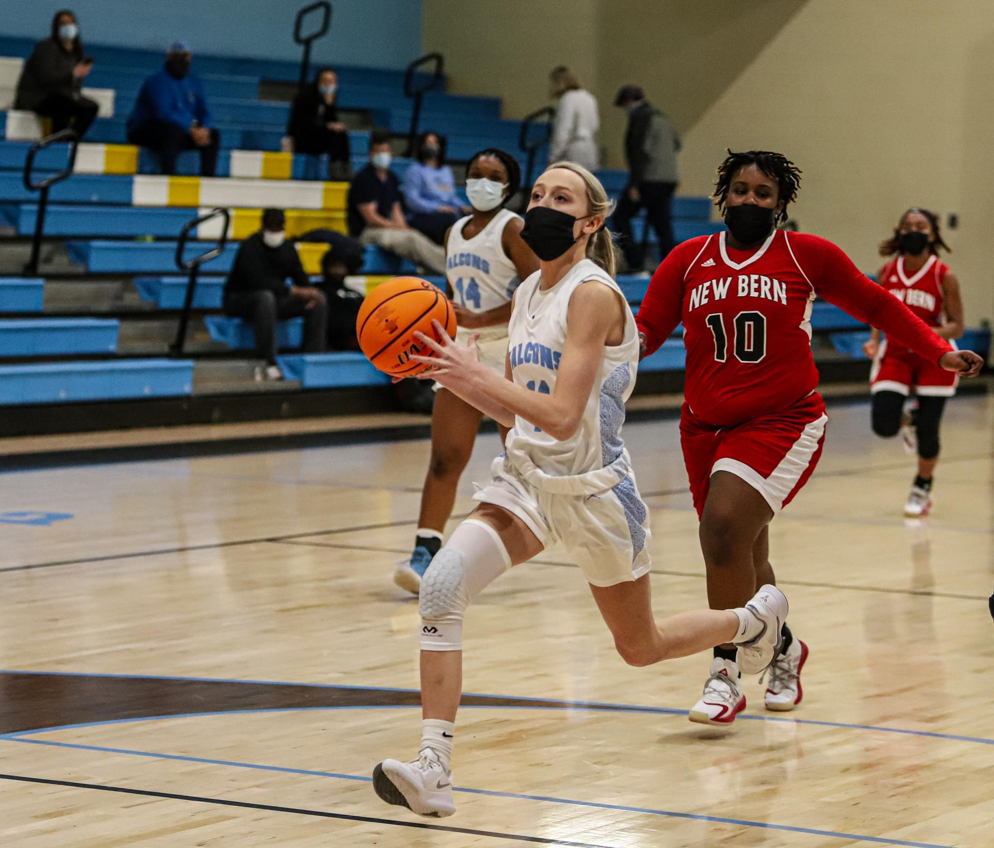 Girls Basketball: Golden Falcons Withstand Late New Bern Rally (PHOTO GALLERY)