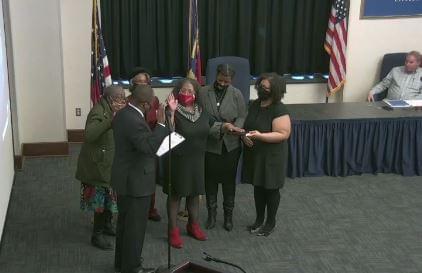 Jones Sworn In For District 1 Council Seat