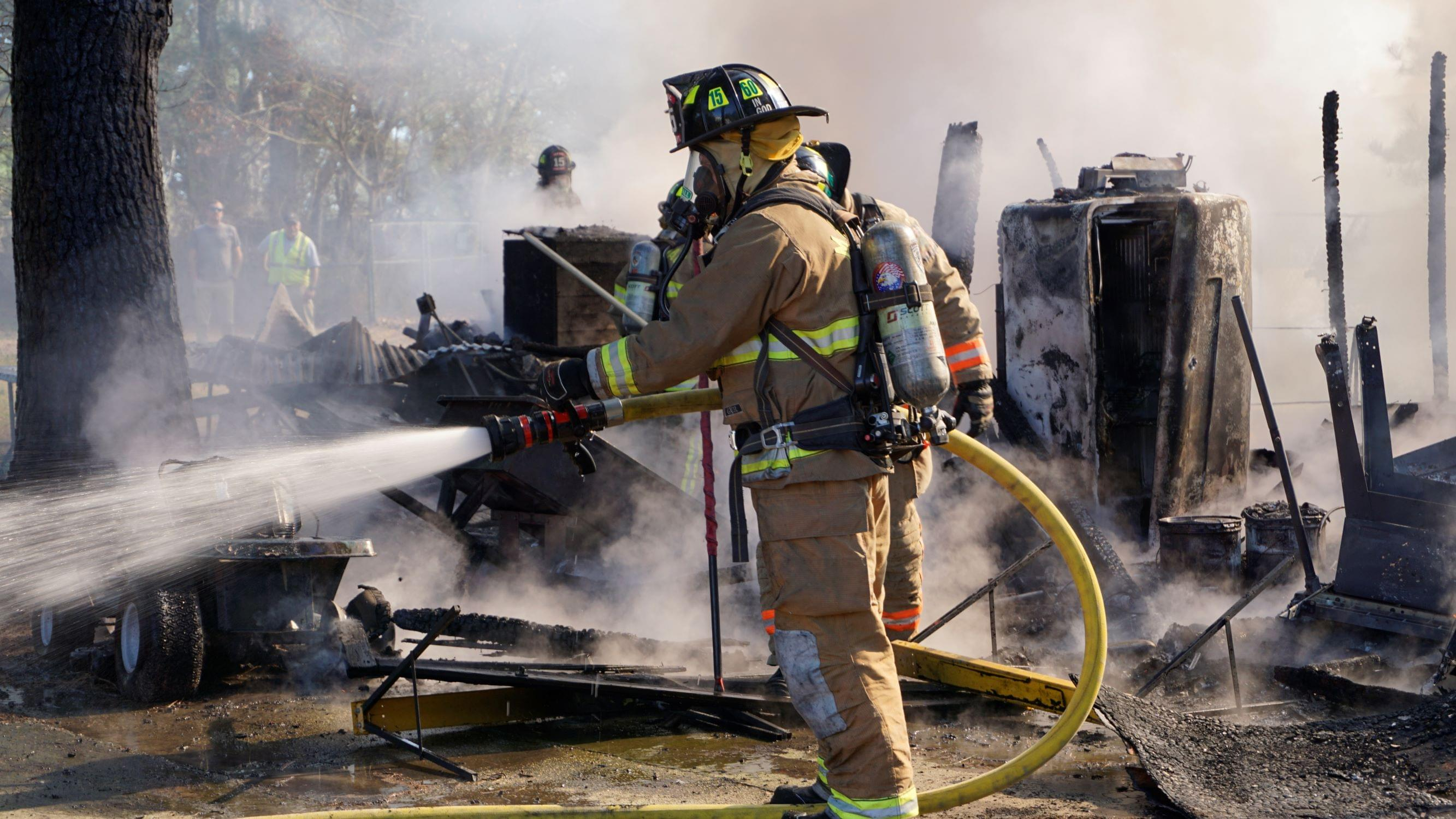 Firefighters Save Nearby Structure From Blaze (PHOTO GALLERY)