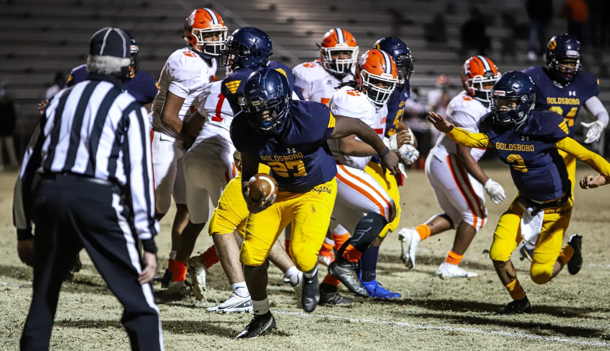 Football: Goldsboro Roars Past Anson On Senior Night (PHOTO GALLERY)