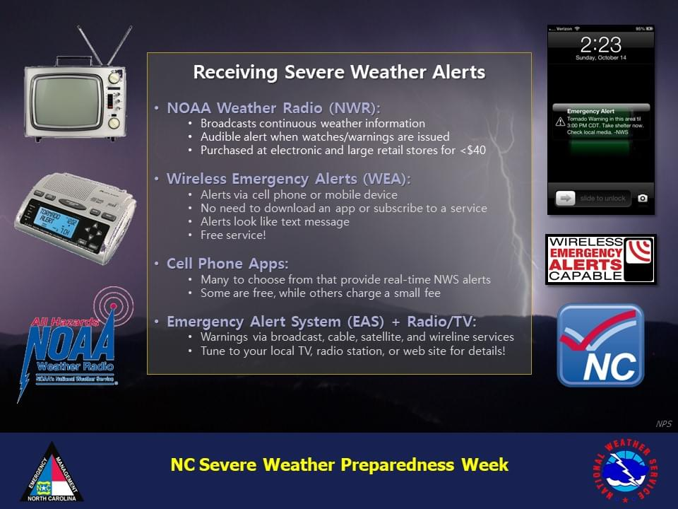 Severe Weather Preparedness Week: Getting Severe Weather Alerts