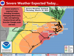 NWS: Strong Storms May Arrive In Afternoon, Evening Hours