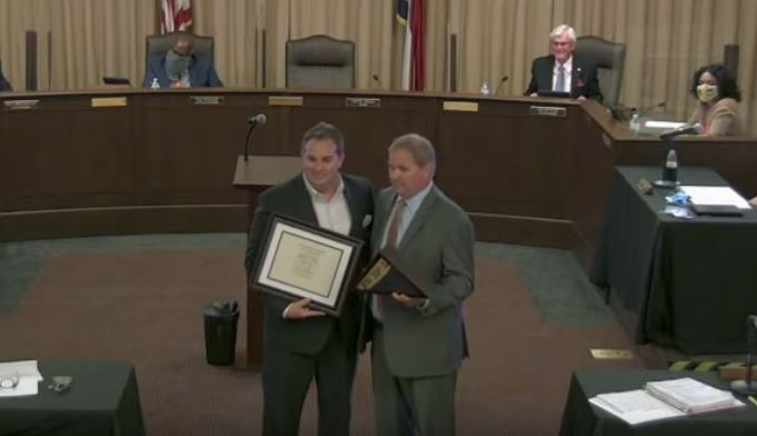 Mayor Allen Given Several Honors Including Order Of The Long Leaf Pine