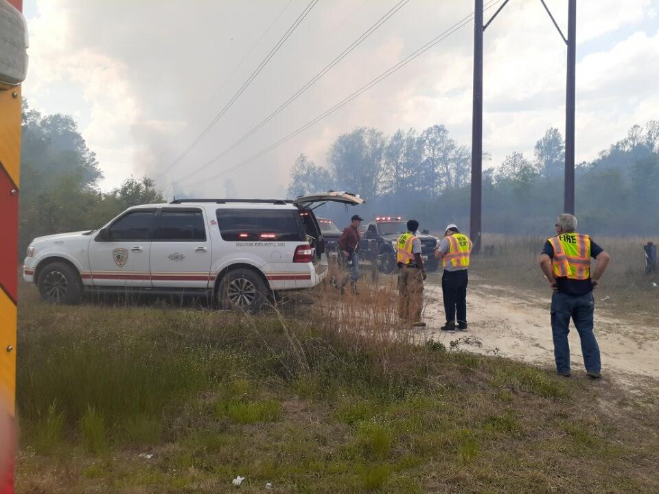 UPDATE: Road Reopens As Firefighters Work On Wood Fire Burns Near U.S. 117 Alt.