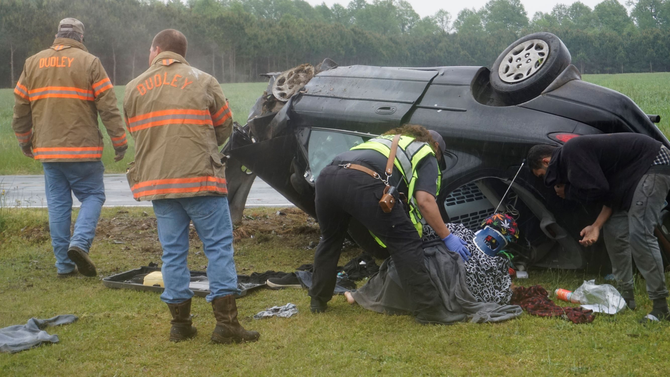 Vehicle Crash On Emmaus Church Rd. Sends Two To The Hospital (PHOTOS)