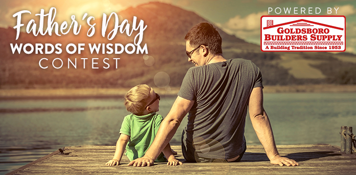 Father's Day Words of Wisdom Contest Hero Image