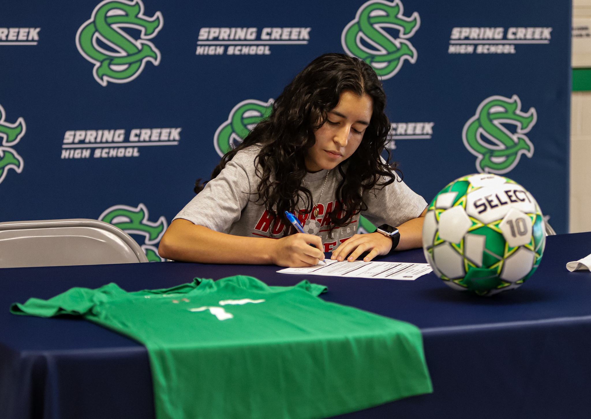 Spring Creek's Reyes Signs With Louisburg's Soccer Program