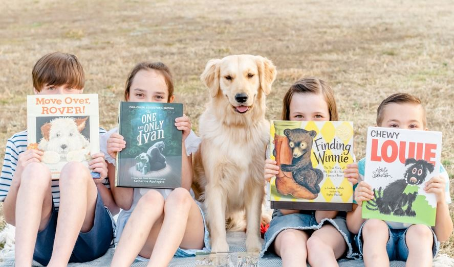 Library Hosts Reading Tails Program With Dolly, Certified Therapy Dog