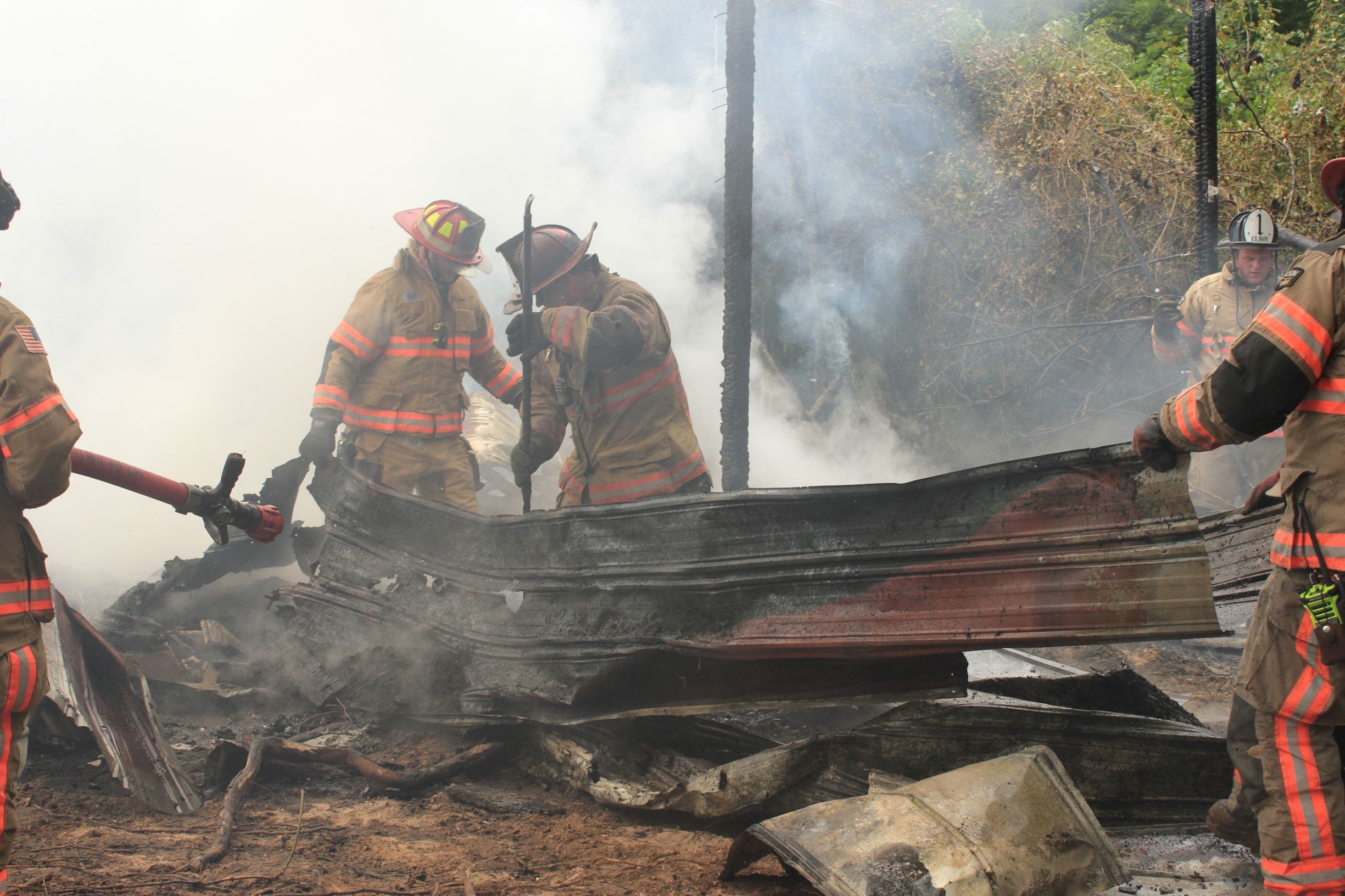 Blaze Destroys Structure On Spring Bank Road (PHOTO GALLERY)
