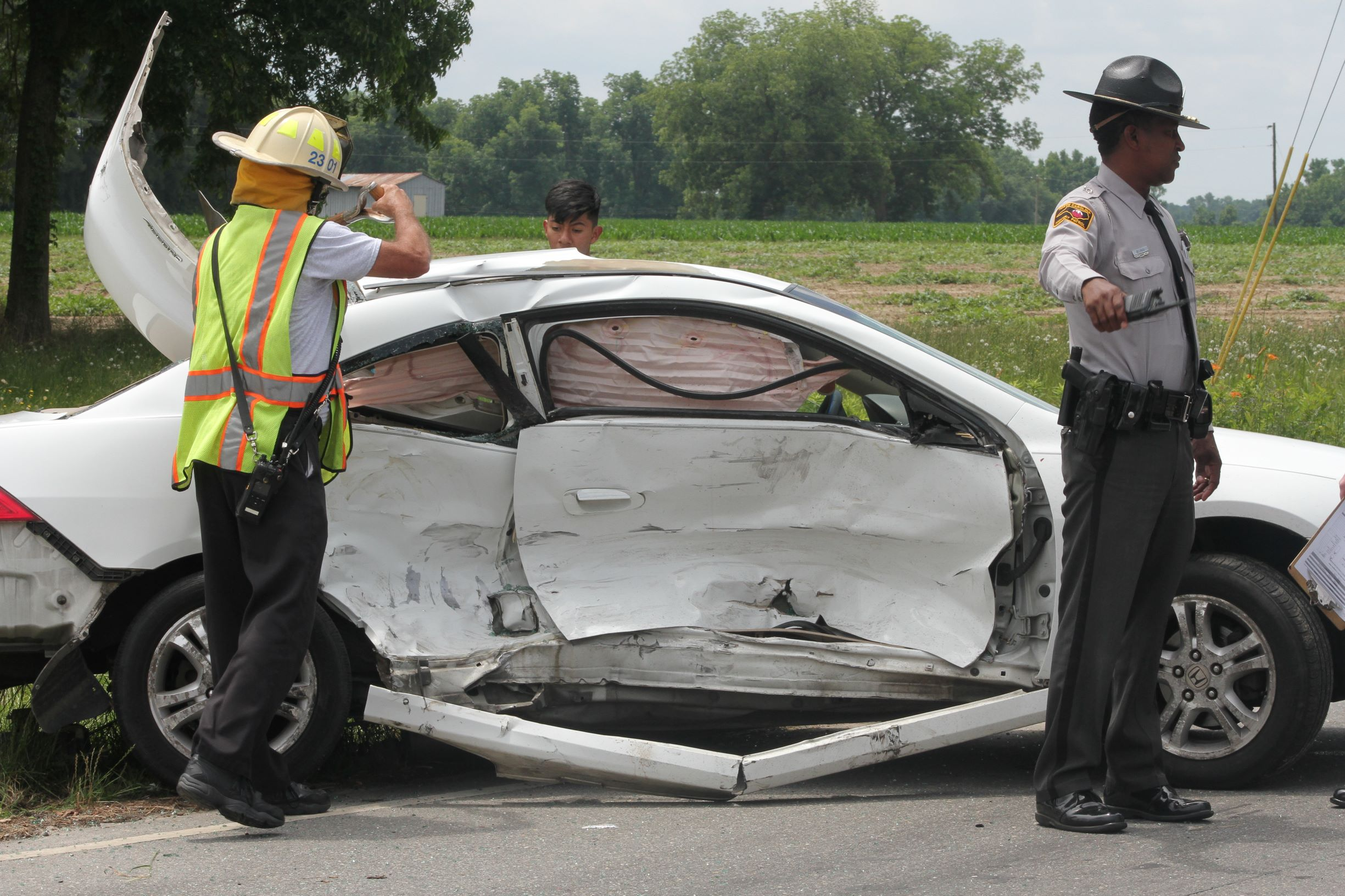 Vehicles Collide At Mount Olive Intersection (PHOTOS)