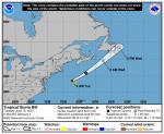 Tropical Storm Bill Forms Far Off N.C. Coast