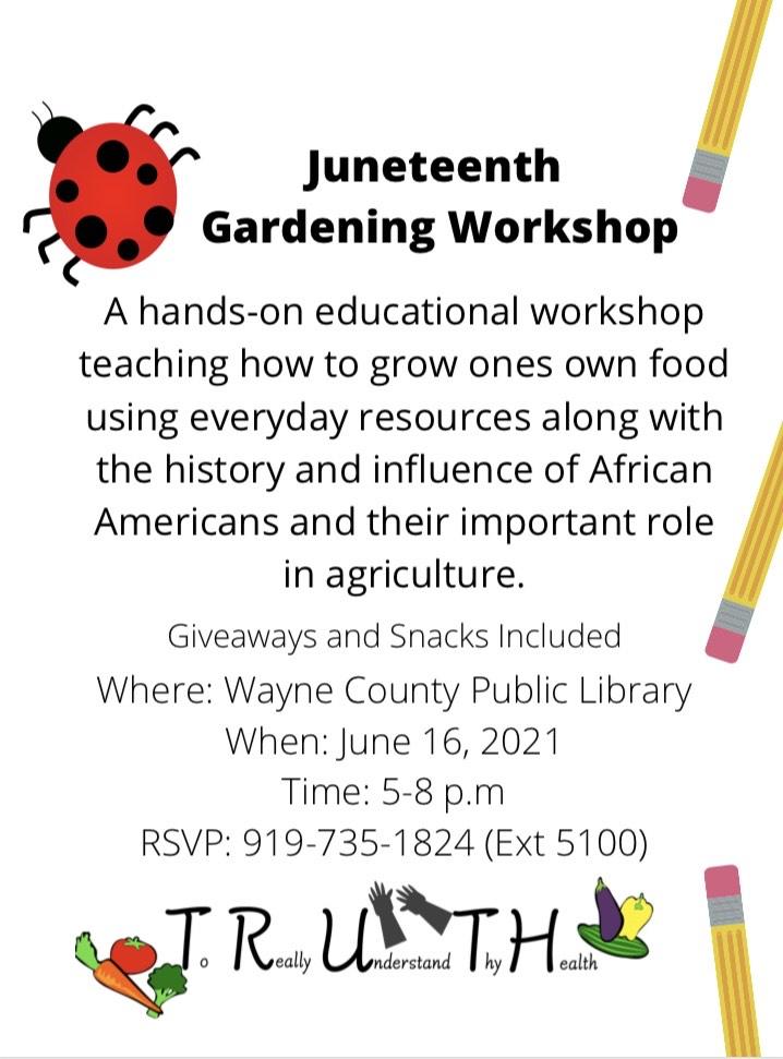 Juneteenth Gardening Workshop This Wednesday At WCPL