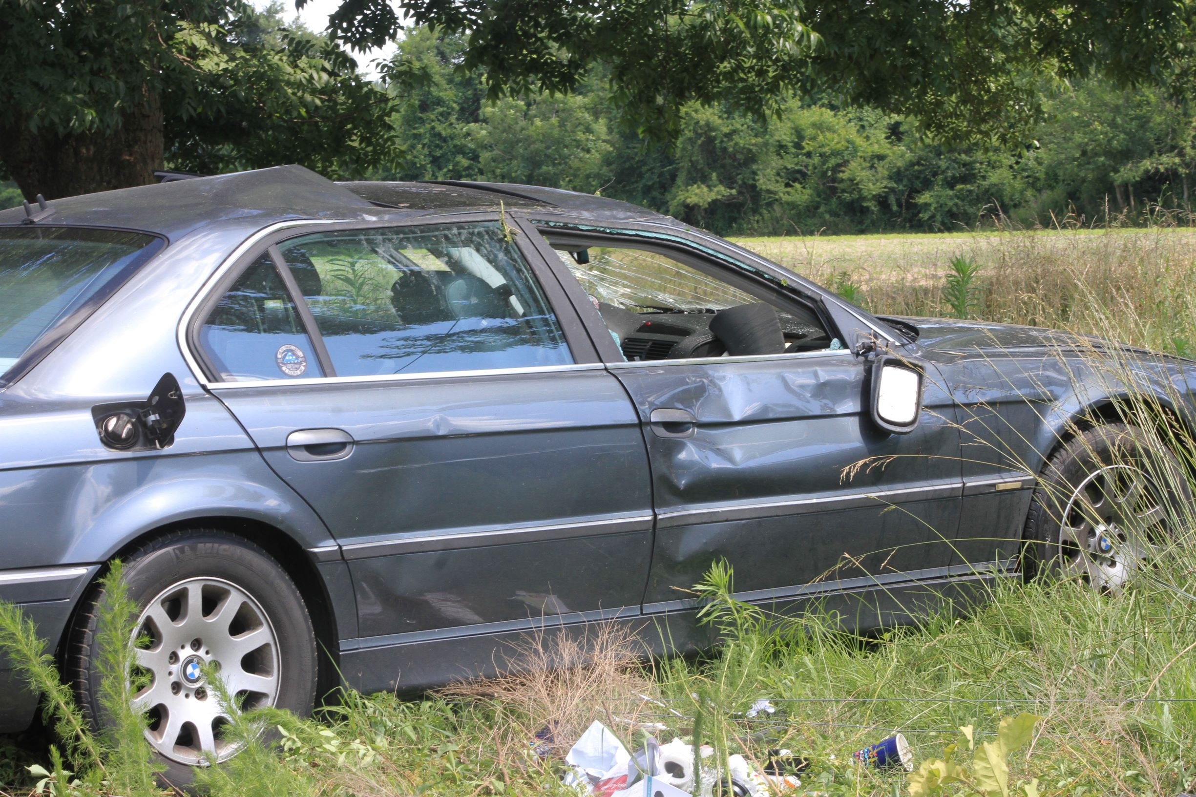 Vehicle Rolls, Lands In Field (PHOTOS)