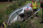 Vehicle Runs Off The Road North Of Mount Olive (PHOTOS)