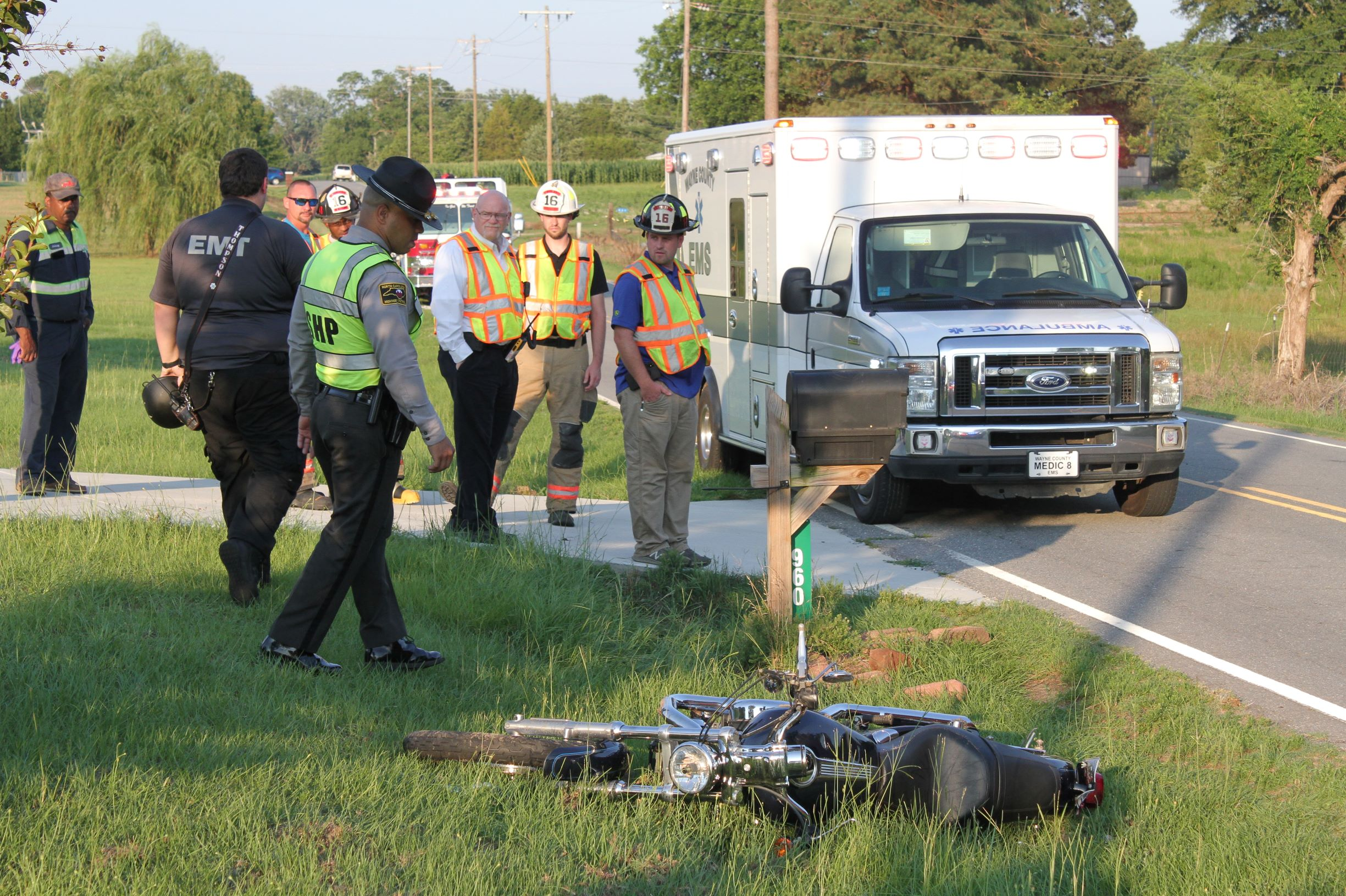Motorcycle Runs Off Road North Of Mount Olive (PHOTOS)