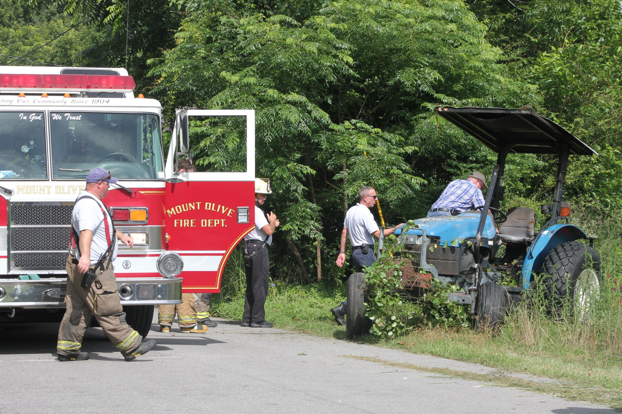 Bush Hog Operator Burned