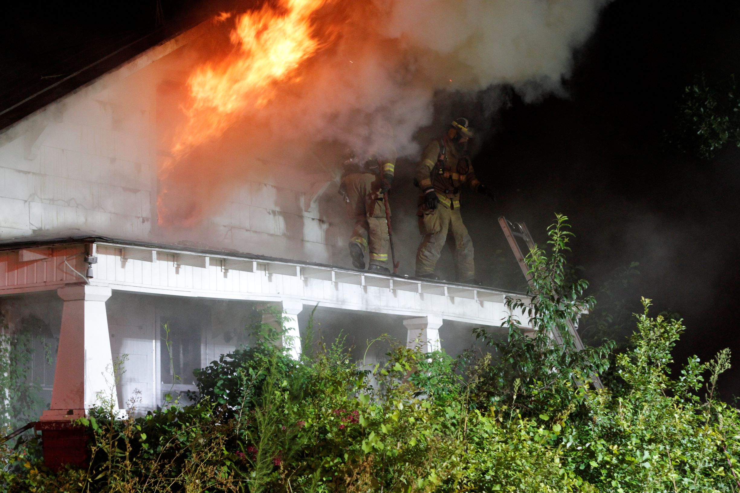 UPDATE: Fire Rips Through Abandoned Home Near Brogden (PHOTO GALLERY)