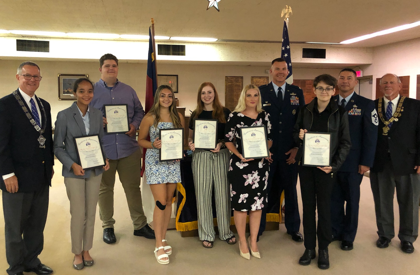 Air Force Family Scholarships Presented At Goldsboro Elks Lodge (PHOTOS)