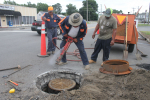 Workers Make Repairs Along Mount Olive Streets (PHOTOS)