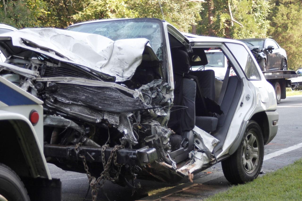 Three Vehicle Crash Injures Four