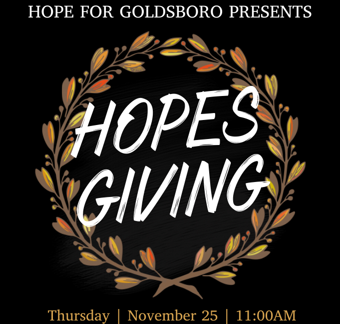 Organizers Seek Assistance For 2nd Annual HopesGiving Meal
