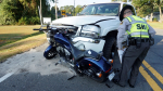 Motorcycle Driver Airlifted Following Crash (PHOTO GALLERY)