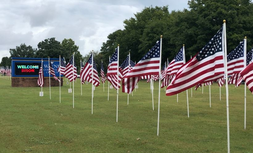 Rotary's Field Of Honor Flag Display Opens At WCC