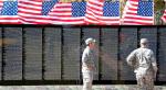 Vietnam Veterans Memorial Replica At WCC On Wednesday